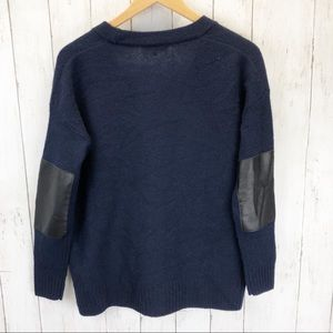 Madewell Sweaters - Madewell Lambswool Leather Patch Cardigan XS ::EE8